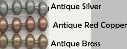 """25 BALL CHAIN Necklaces 27"""" Long ~ Antique Finish ~Pick from 3 Colors ~OK to MIX"""