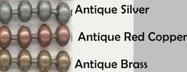 """25 BALL CHAIN Necklaces 27"""" Long ~ Antique Finish ~Pick from 3 Colors ~OK to MIX image 1"""