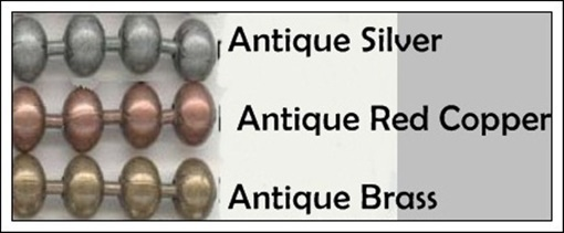 """25 BALL CHAIN Necklaces 27"""" Long ~ Antique Finish ~Pick from 3 Colors ~OK to MIX image 2"""