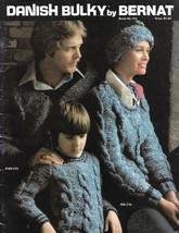 Danish Bulky by Bernat Book #216 1975 Knit Knitting Book for the Whole F... - $9.89