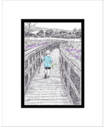 Hiking the AT, Pen and Ink Print - $24.00