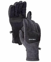 HEAD Men's Gray Ultrafit Sensatec Touchscreen Fleece Lined Running Gloves
