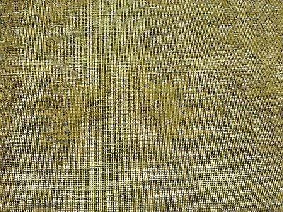 6 X 9 Hand Knotted Worn Gold Overdyed Persian Tabriz Oriental Rug G23881