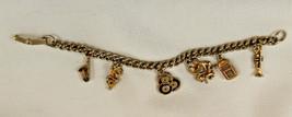 VINTAGE COSTUME JEWELRY Charm Bracelet music, v... - $13.85