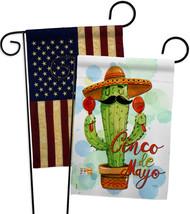 Mr Cactus Cinco de Mayo - Impressions Decorative USA Vintage - Applique Garden F - $30.97