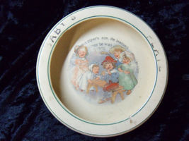 Antique Baby Plate Dish Roseville Piper's Son Vintage  - $99.99