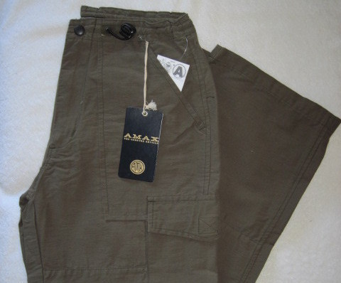 Amax Boys Cargo Pants Olive Green Adj Waist Size 10 New