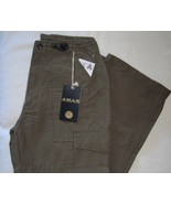 Amax Boys Cargo Pants Olive Green Adj Waist Size 10 New - $9.00