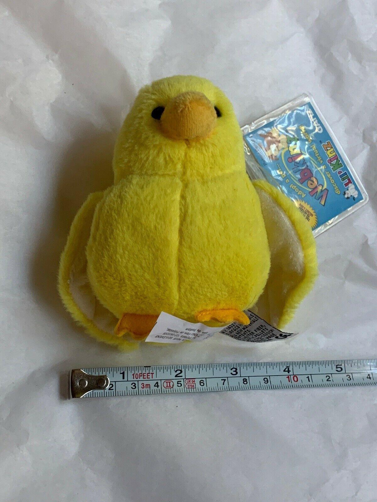 ganz webkinz lil kinz yellow canary bird plush w Code Card • Used Doll Toy Cute image 12