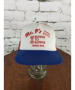 Mr. P's Auto Parts Trucker Hat Cap Red Mesh Snapback Vintage Distressed - $19.79