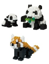 2 Nanoblock Sets - Giant Panda and Red Panda - $15.83