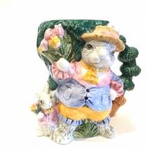 "Fitz & Floyd Versailles Rabbit 1994 Mug 4-3/4"" IOB - $34.99"