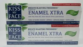 2 Kiss My Face Enamel XTRA Anticavity Toothpaste Cool Mint Gel 4.5oz EXP 8/20 - $19.77