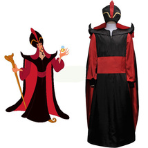 Adult Kids Jafar Costume Disney Aladdin Cosplay Outfits Men Halloween Suit - $136.96