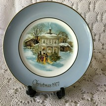 Enoch Wedgewood Avon Carollers In The Snow Fifth Edition Porcelain Plate 1977 - $11.63