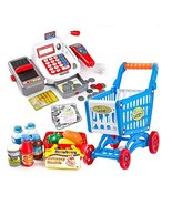 Children Kids Pretend Play Cash Register Assorted Blue Playset, Educatio... - $54.98
