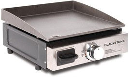 Table Top 1-Burner Propane Gas Grill in Stainless-Steel and amp; Black w... - $106.53