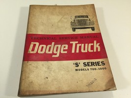 1963 Dodge Truck Technical Service Manual S Series Models 700-1000 - $24.99