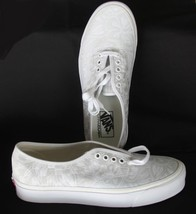 VANS Raised Hibiscus Floral White & Light Greenish Tan Shoes M-9/W-10.5 ... - $59.99