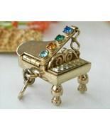Vintage Grand Piano Charm Pendant Mechanical Rh... - $49.95