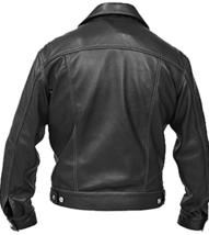 Windy Denim Men's Black Brando Leather Jacket image 2