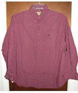 Mens Duck Head Duckhead Long Sleeve Shirt Size Large Red Plaid - $16.99