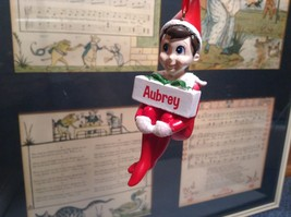 Dept 56 - Elf on the Shelf - Elf named Aubrey Christmas Ornament