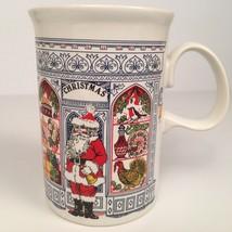 Dunoon Santa Claus Christmas Mug Store Window Made Scotland Coffee Cup P... - $12.82