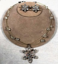 VTG GLASS BEAD FAIRY NECKLACE W/ RHINESTONE STAR PENDANT & STAR CLIP ON ... - $29.69