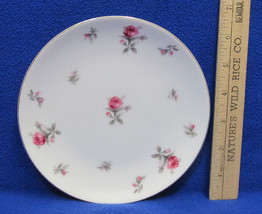 Vintage Rose Chintz Bread Butter Plate Dessert Pink Rose by Meito Japan ... - $8.90