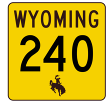 Wyoming Highway 240 Sticker R3481 Highway Sign - $1.45+