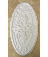 Plaster Mold, Mold, Large Oval Medallion Plaster Mold, Concrete Mold, cl... - $14.99