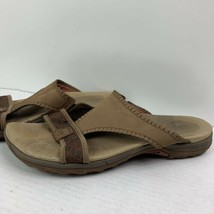 Merrell Dark Earth Slide Sandals Shoes Women's Sz 11 Brown QForm Cushion - $29.69
