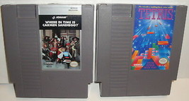 Where in time is carmen sandiego Tetris VIDEO GAME LOT NES Cartridge Nin... - $7.84
