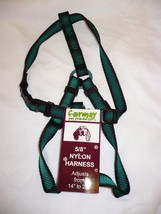 Formay Nylon Pet Harness 5/8 Inch Dog Harness Green W Black 14 to 20 Inch - $12.86