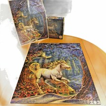 Ceaco Fantasy Unicorn 750 Piece Jigsaw Puzzle By Myles Pinkney with Bonu... - $10.88
