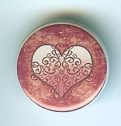 Primary image for Vintage Inspired Heart Button-Interchangeable Magnetic Jewelry/Bottle Cap Insert