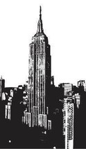 "EMPIRE STATE NEW YORK VINYL WALL STICKER DECAL 22""X40"" - $29.99"