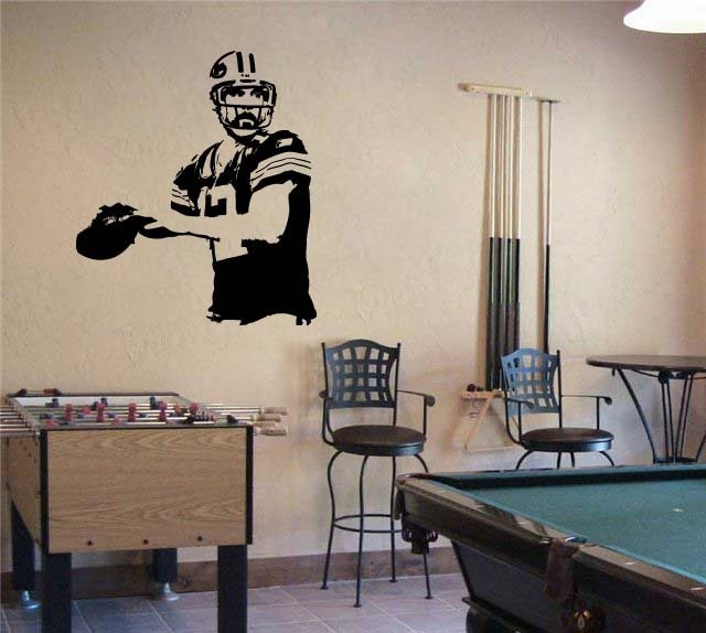 Primary image for Large Aaron Rodgers Green Bay Packers Football Vinyl Wall Sticker Decal