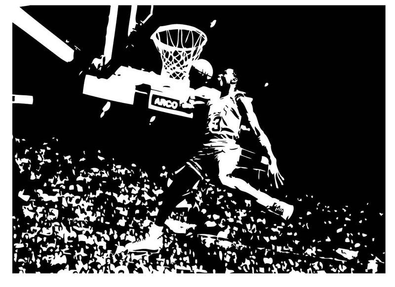 Primary image for Large Michael Jordan Chicago Bulls Basketball Dunk Vinyl Wall Sticker Decal