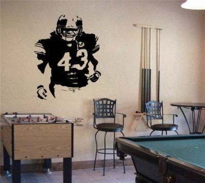 Primary image for Large Troy Polamalu Pittsburgh Steelers Football Vinyl Wall Sticker