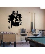 Large Troy Polamalu Pittsburgh Steelers Football Vinyl Wall Sticker - $34.99