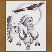 Navajo Soaring Eagle Indian Chief Ink Drawing Print - $49.00