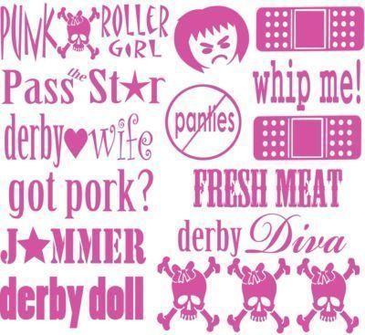 Primary image for Roller Derby Vinyl Helmet Stickers (16 Decal Sheet)