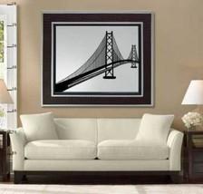 SAN FRAN OAKLAND BAY BRIDGE VINYL WALL STICKER DECAL - $29.99