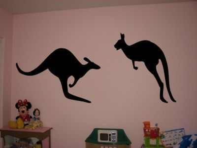 Primary image for Silhouette Kangaroos Vinyl Wall Sticker Decal