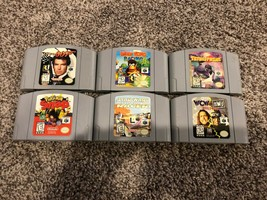 Nintendo 64 N64 6 game lot - Goldeneye, Diddy Kong Racing, Pokemon Snap, more!  - $58.20