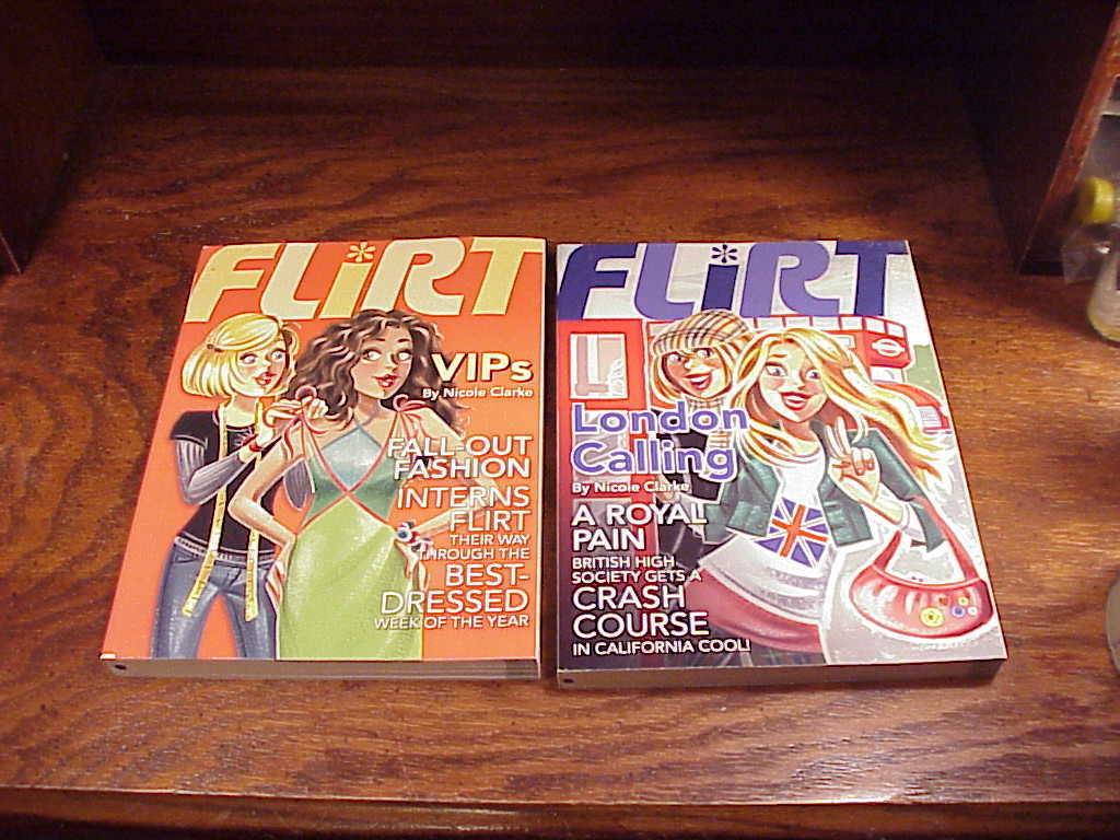 Primary image for Lot of 2 Flirt Series Softback Books, no. 6 and 8, by Nicole Clarke, VIPs London