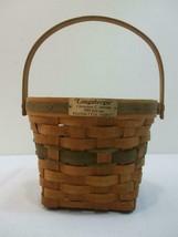 Vintage Longaberger Christmas Collection Basket 1988 Edition Poinsettia Handle - $14.80
