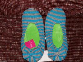 Xhilaration Blue & Heather Gray Slippers Size Medium (7-8) NEW - £11.12 GBP